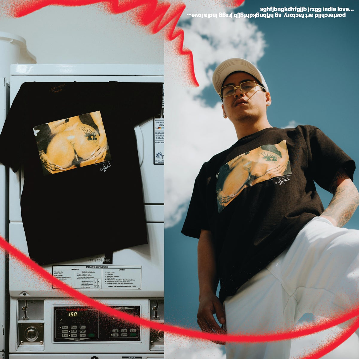 Champagne India Love x PosterChild Collab T shirt