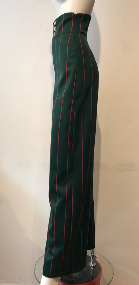 Image of High waist blazer stripe trousers