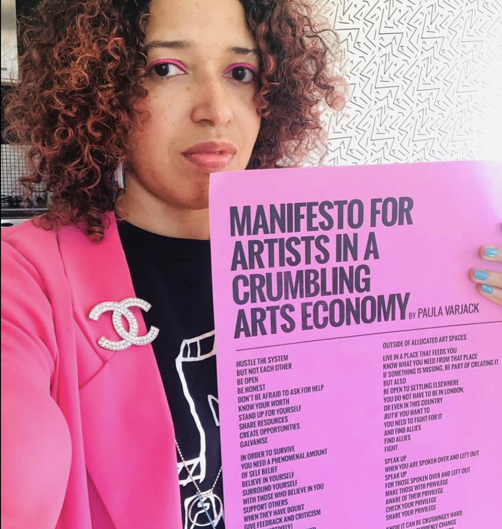 Image of Manifesto for Artists in A crumbling arts economy - Fourth print run
