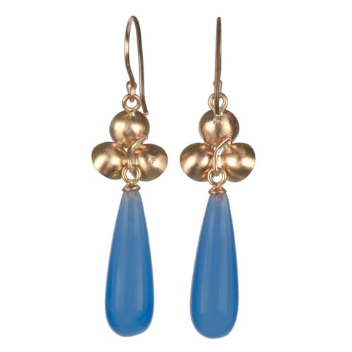 Image of Gold Cluster Drops with Blue Agate