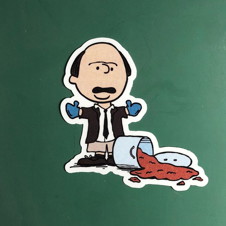 """""""Good Grief"""" Kevin Sticker"""