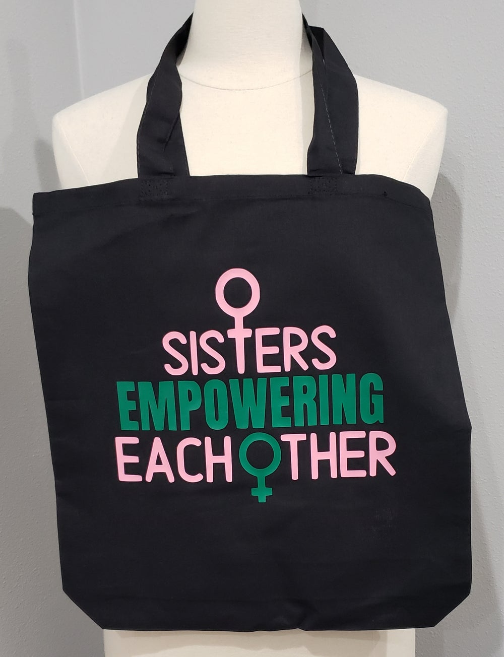 Sisters Empowering Each Other Canvas Tote Bag