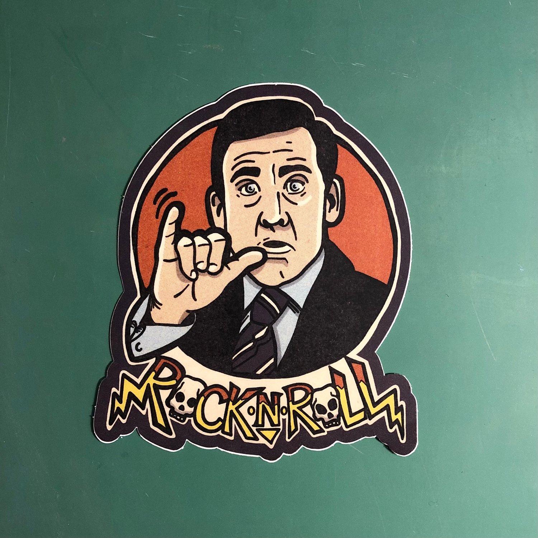 """Rock N Roll Mike 4"""" Sticker"""