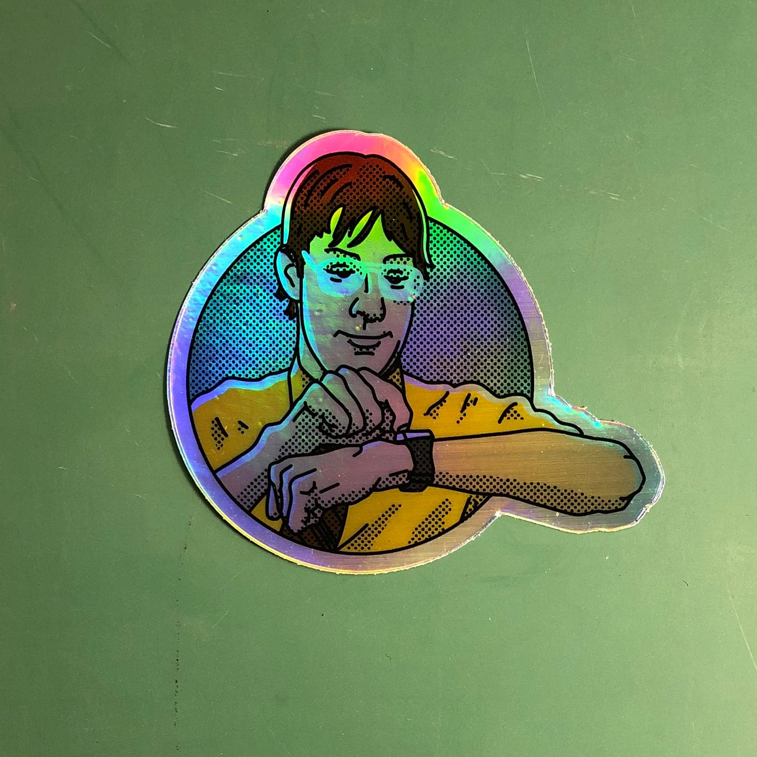 "Identity Theft Jim *holographic* 3"" Sticker"