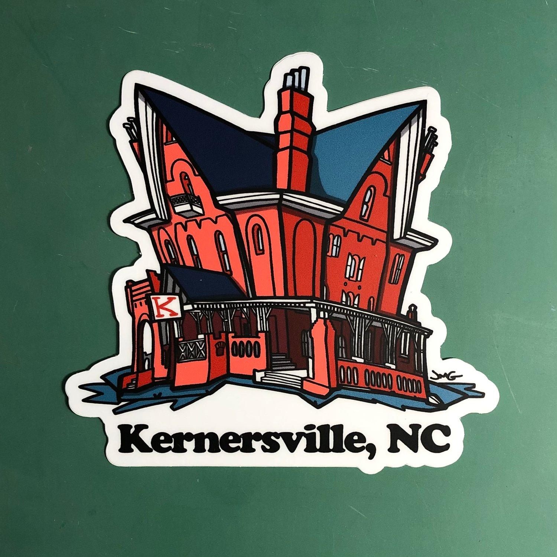 """Kernersville, NC 4"""" Sticker"""