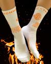 Radio Active Technologies Crew Sock (White/Orange)