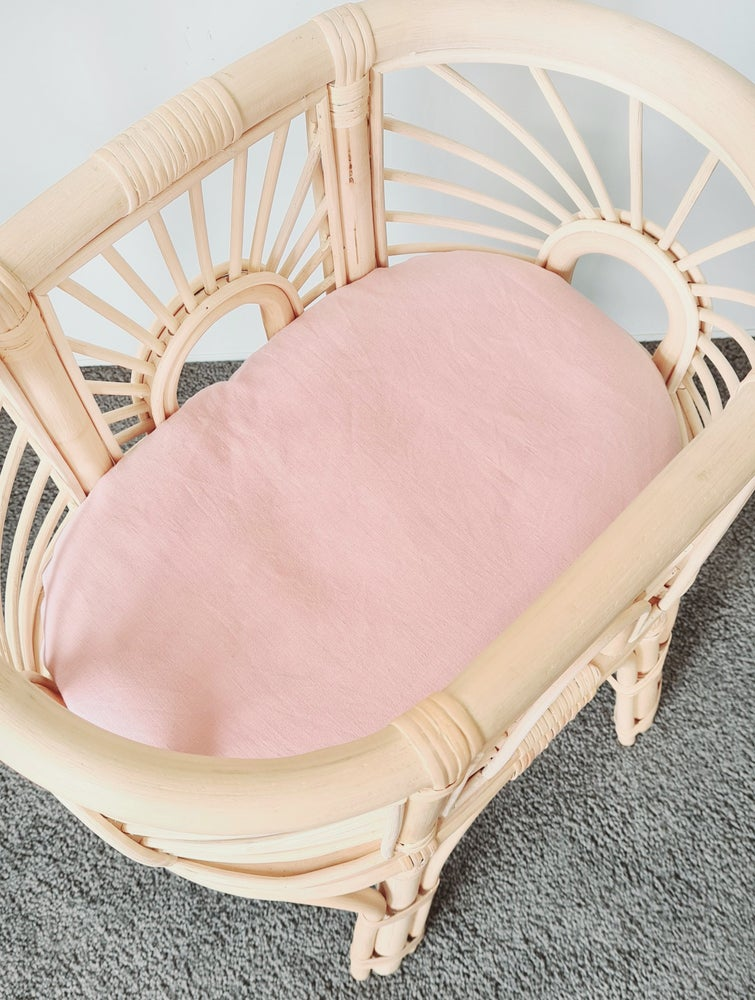 Image of Plain Mauve Fitted Sheets