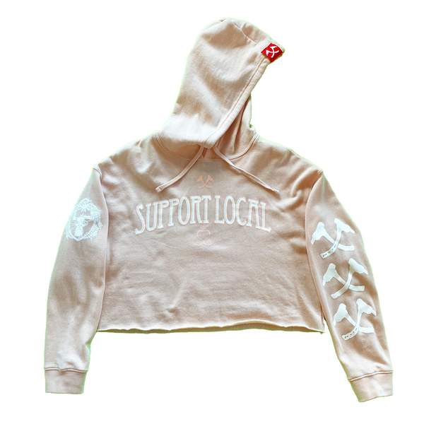 Image of The Slogan (Crop Top Hoodie)