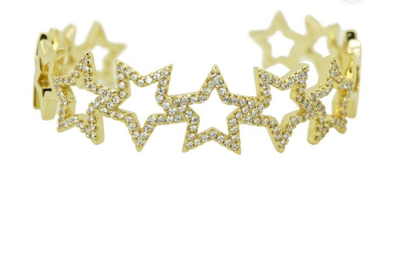Image of CZ star cuff