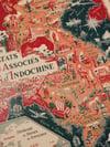 L'Union Francaise - Les Etats Associes d'Indochine | Lucien Loge | 1948 | Art Print | Vintage Map