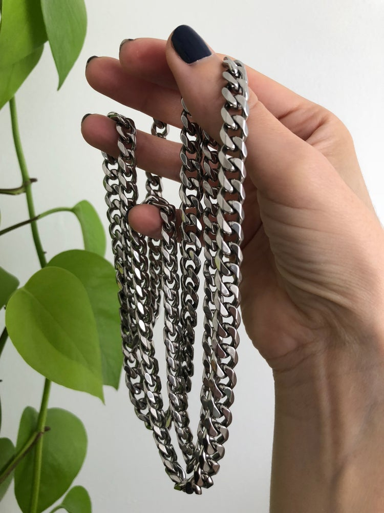 Image of THICK CUBAN CHAIN - SILVER