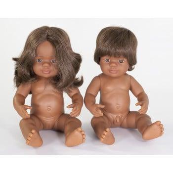 Image of Miniland Doll - Aboriginal Girl, 38cm, Undressed