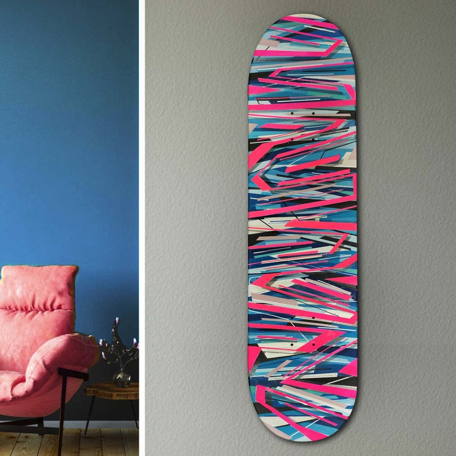 Image of Skate construction pink and blue