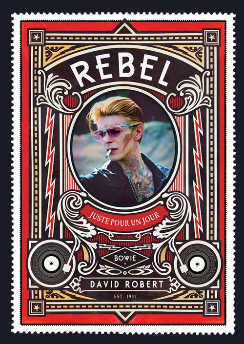 Image of Bowie Rebel Commemorative Stamp