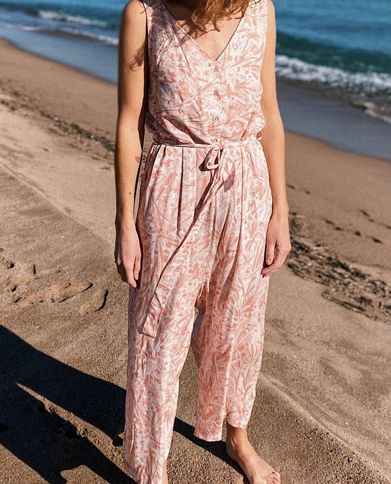 Image of CLAIRE jumpsuit available in two fabrics IVORI