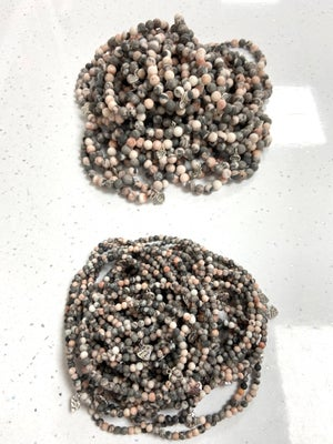 Image of Natural Pink Zebra Jasper Well Being Beads - Prices from £5
