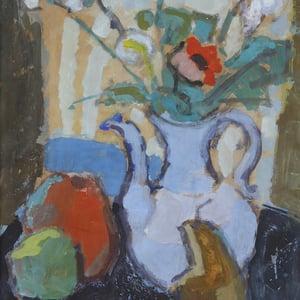 Image of Mid Century, Oil Painting, Still Life, Lennart Rosensohn, (1918-1994)