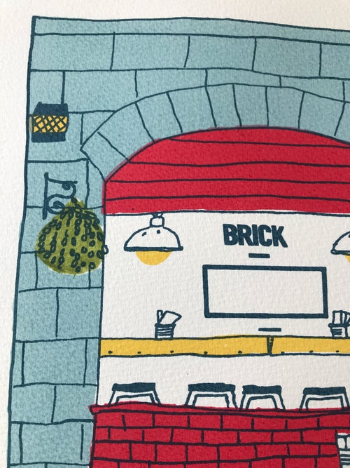 Image of B is for Brick Pizza