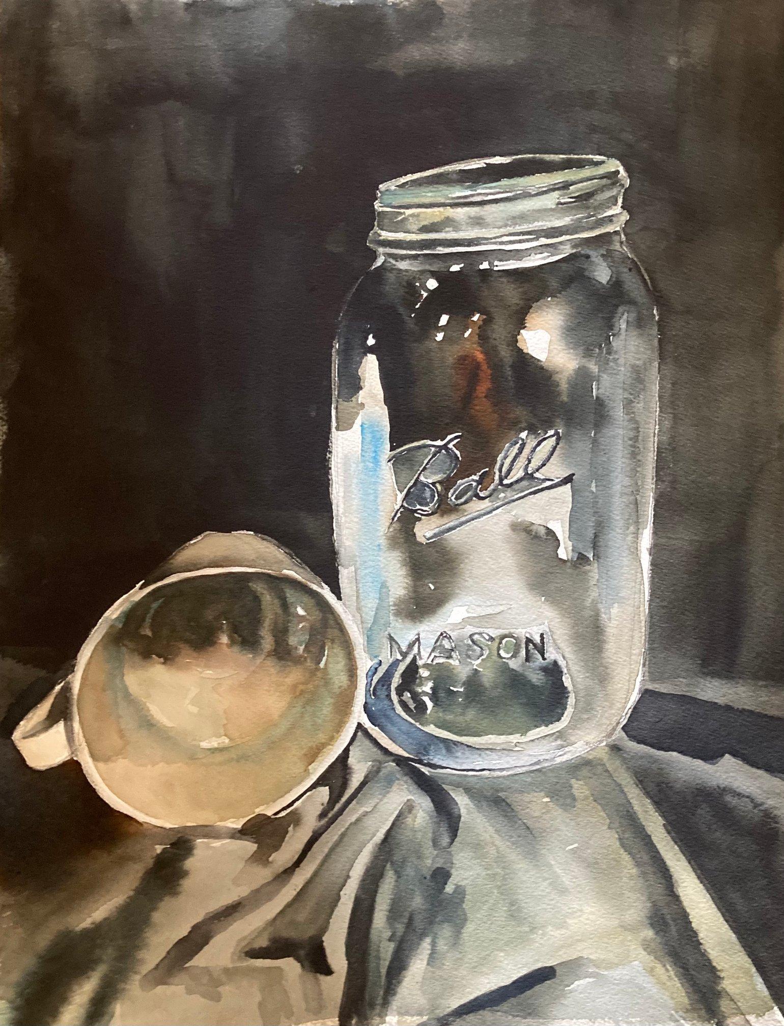 Image of Mason Jar Still Life - Print