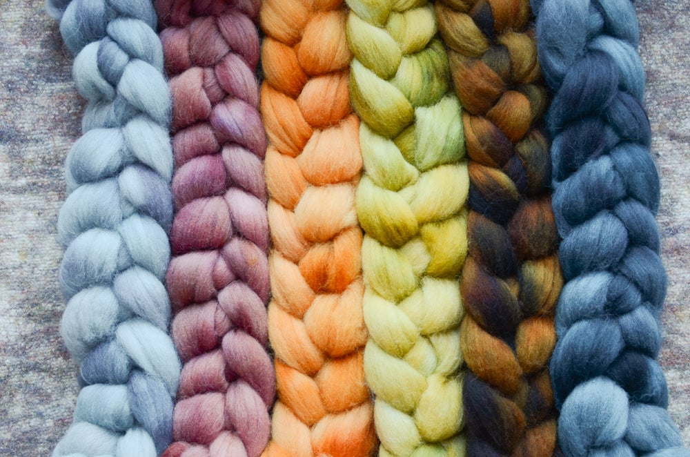 """Image of """"Little Houses"""" February Fiber Club Coordinate Pack- PRE-ORDER - 6 oz."""