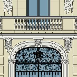 Casa-palacio de D. Enrique Gosálvez (fondo color)