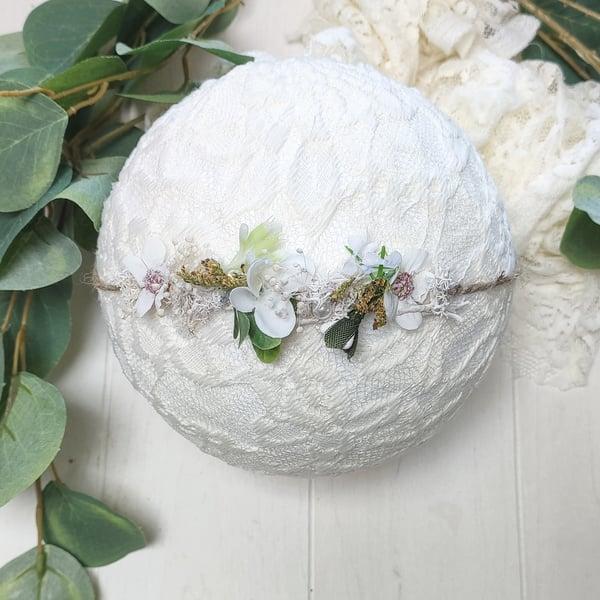 Image of Mini halo blanc et vert