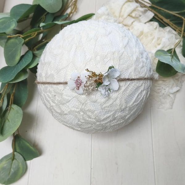 Image of Headband blanc Marguerite