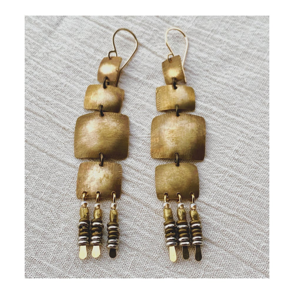 Image of Brass Sail Earrings