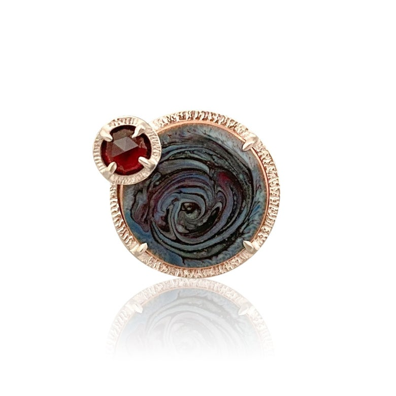 Image of eclipse swirl ring -- one of a kind