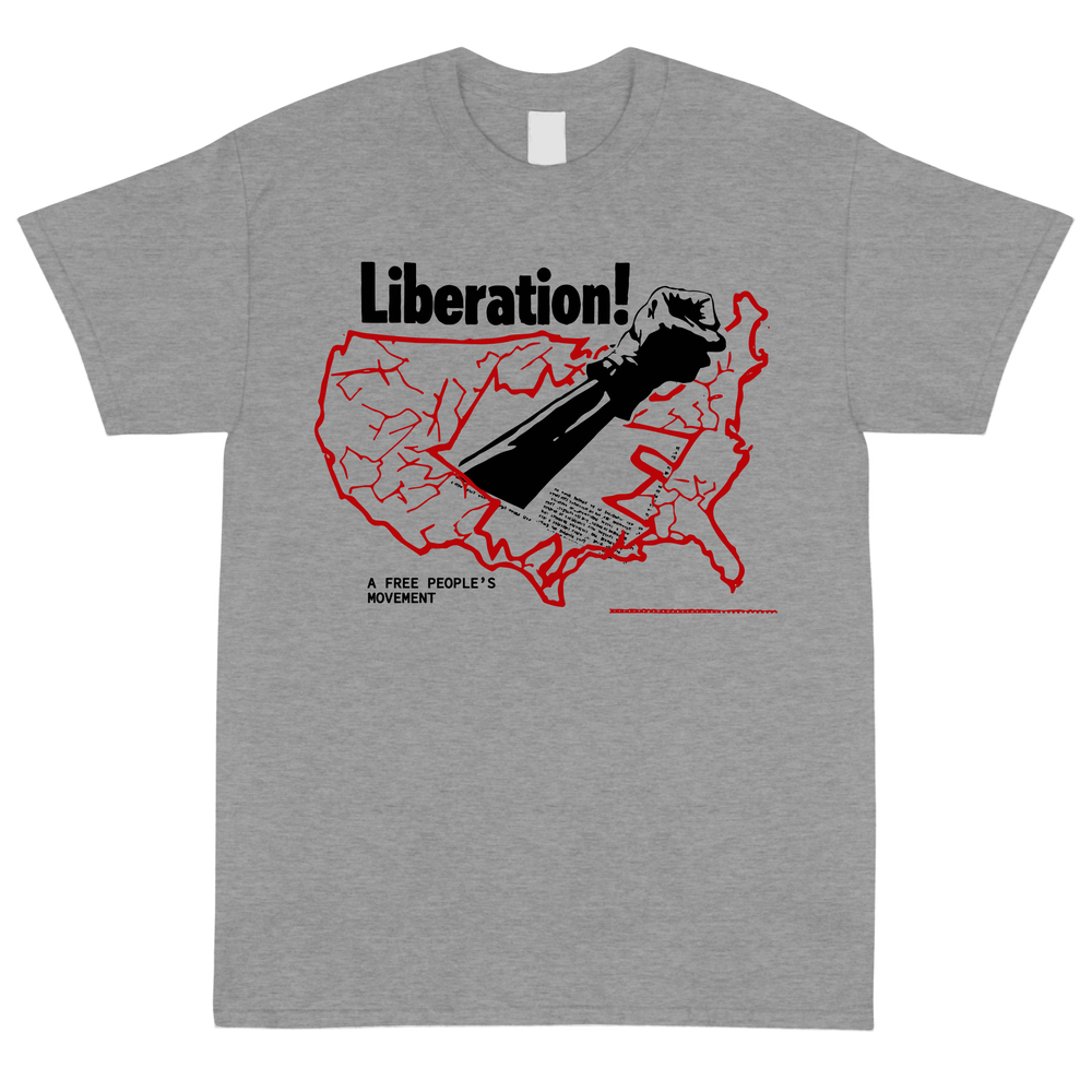 Image of 8oz A FREE PEOPLE'S Grey Liberation T Shirt