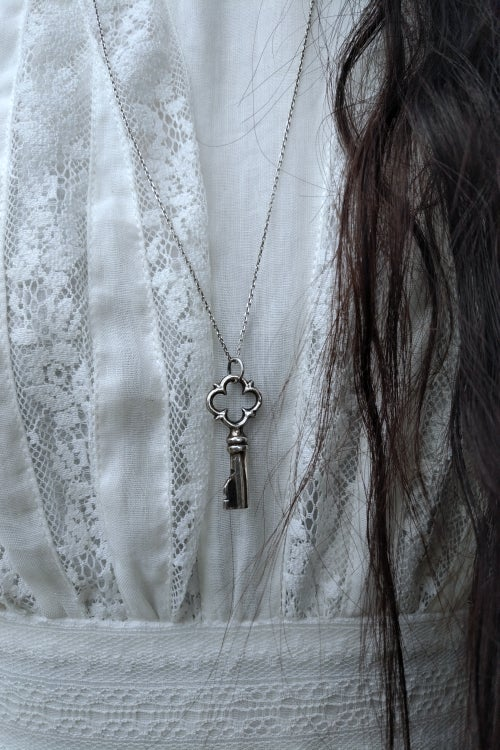 Image of LA CLEF D'ARGENT. SILVER KEY TALISMAN ↟ sustainable sterling - free will, protection, knowledge
