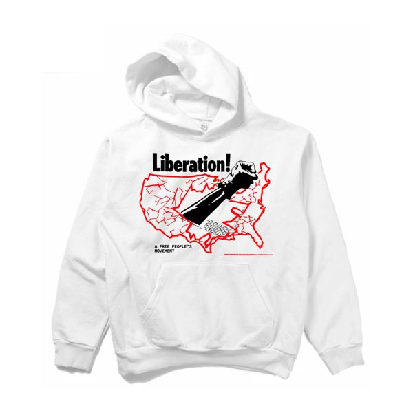 Image of 14oz A FREE PEOPLE'S Liberation White Hoodie