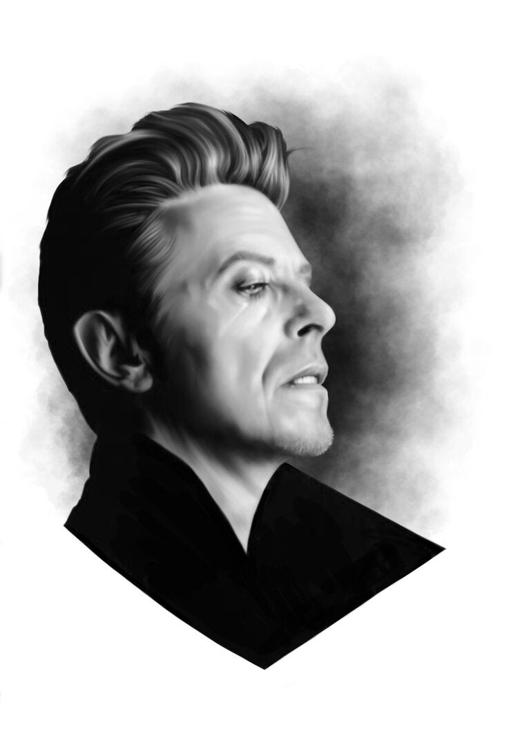 'Bowie Heathen' Art Print by Alisdair Wood