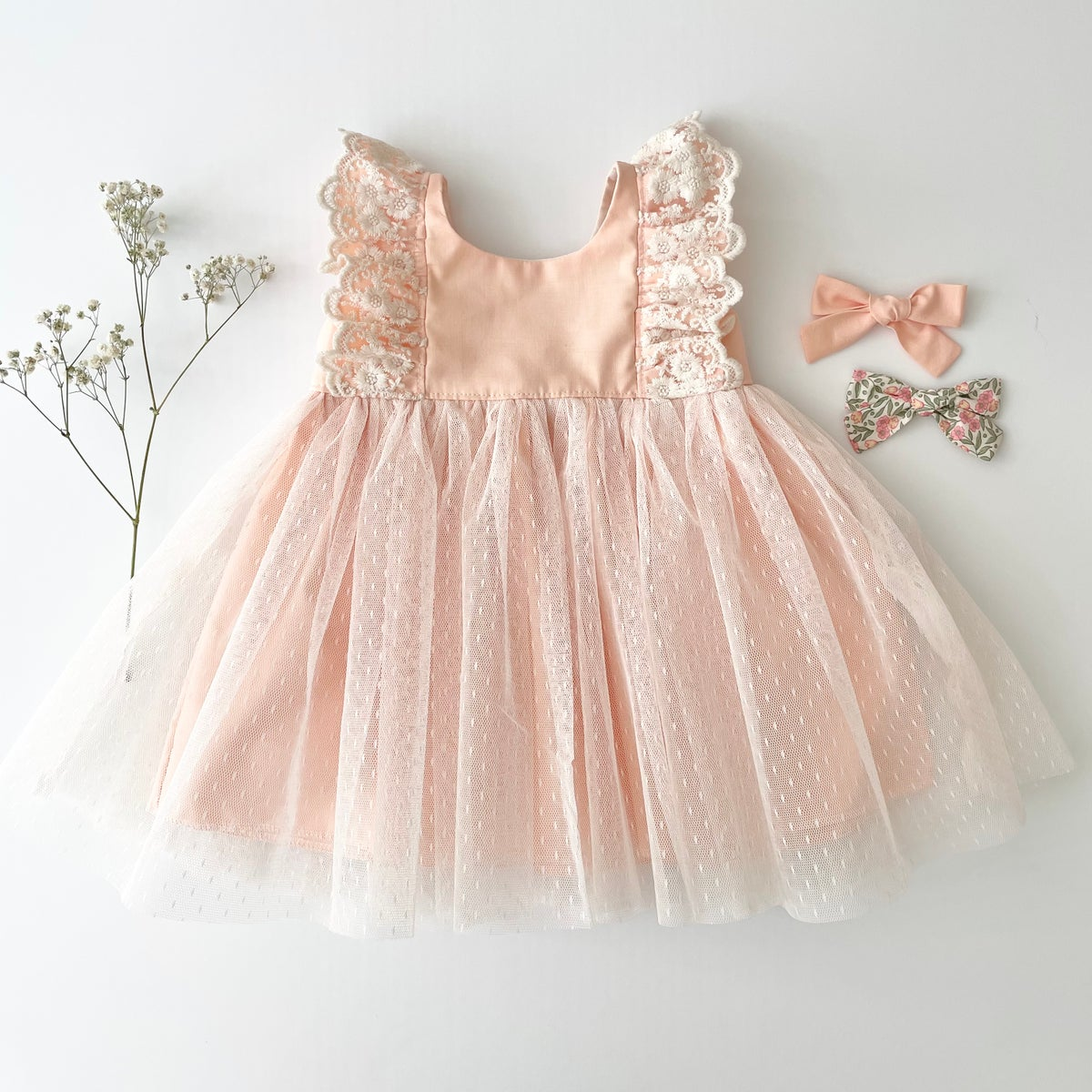 Image of Special occasion dress in peach