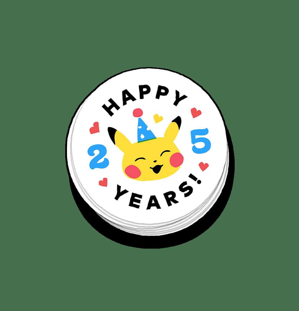 25th year anniversary sticker