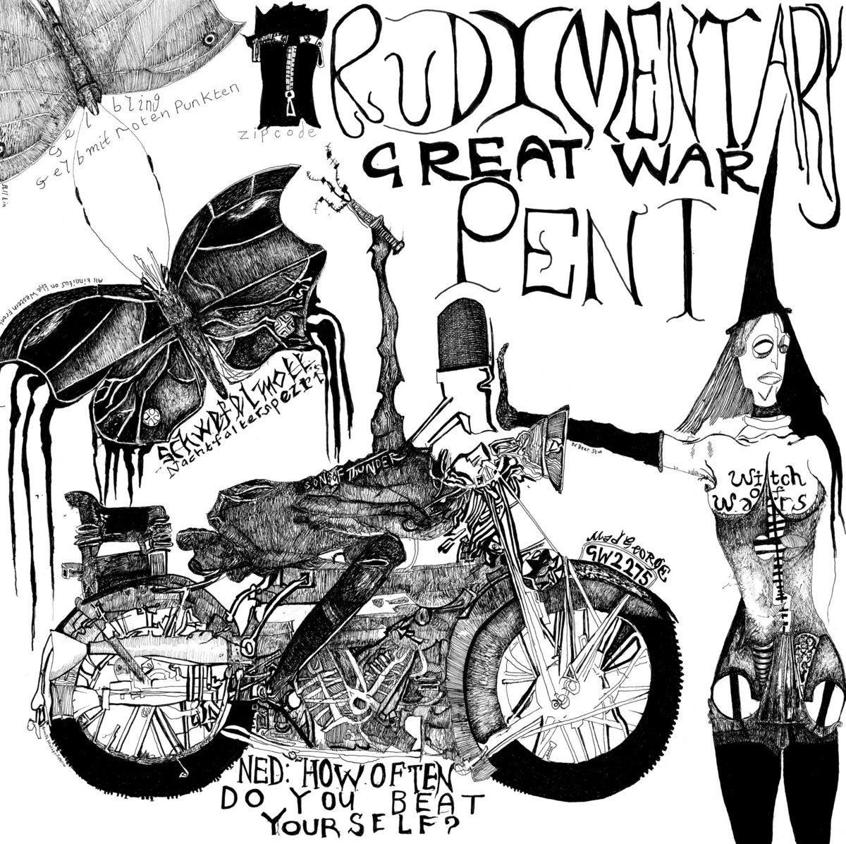Image of RUDIMENTARY PENI - Great War LP [Pre-order. Out 4.23.21]
