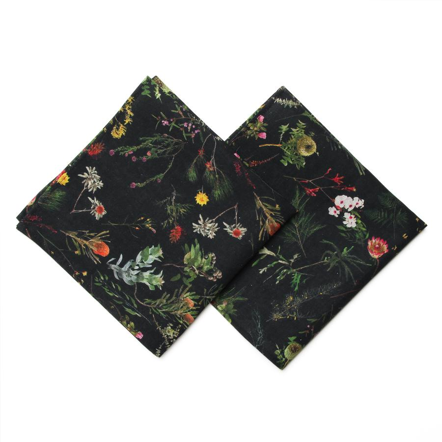 Image of  NGV NAPKIN SET OF TWO FALLEN FRUIT NATIVE PLANTS