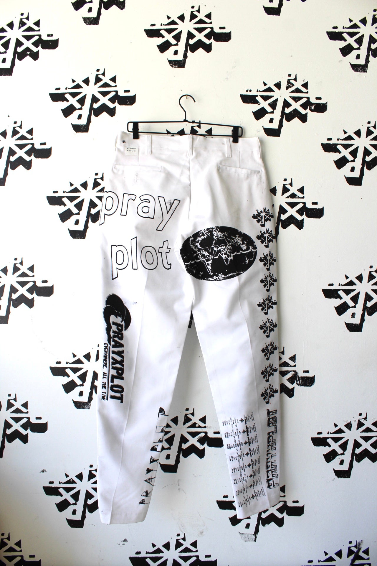 Image of from this point on pants in white