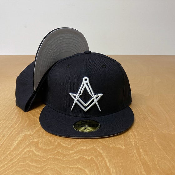 Image of New Era 59Fifty Wool Navy with White