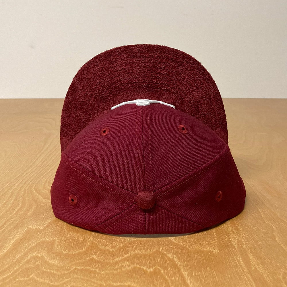Image of New Era 59Fifty Cardinal Red with Glow White