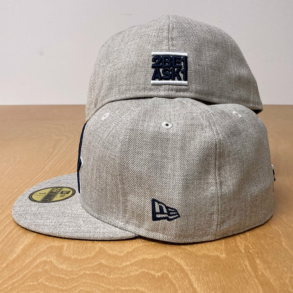 Image of New Era 59Fifty  Oatmeal Heather with Navy