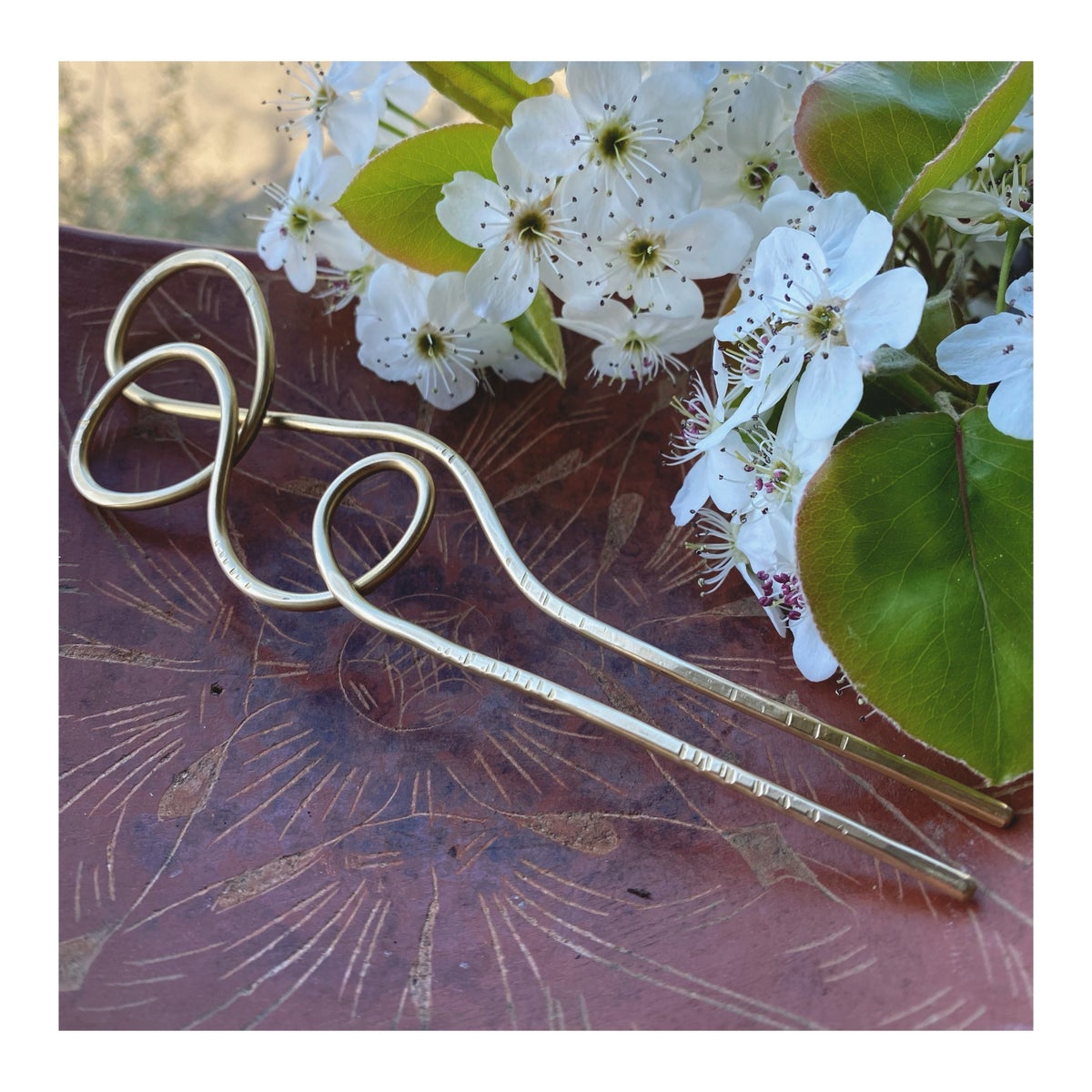 Image of Sculptural Brass Hair Pin -I-