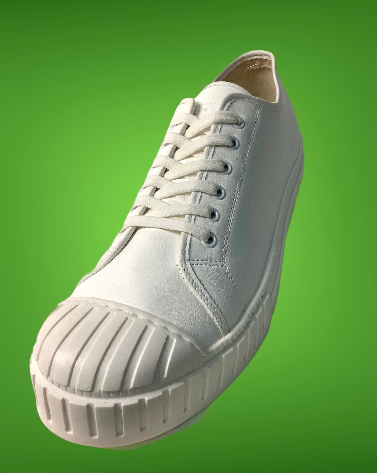 Image of Tortola leather white lo top sneaker shoes made in Spain