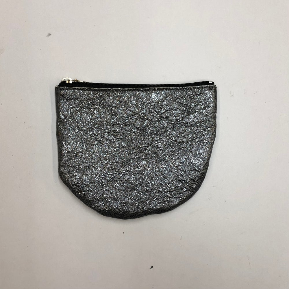 Image of Luna Zippered Pouch - metallic leather