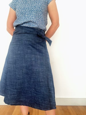 Custom Midi Wrap Skirt