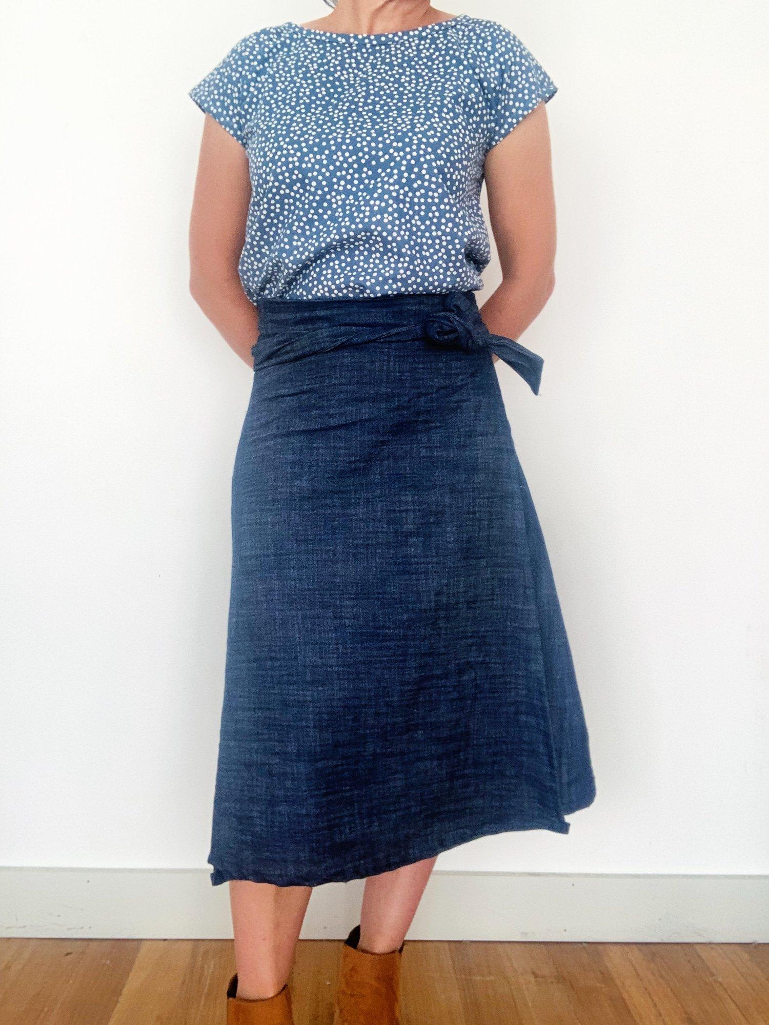 Custom Midi Wrap Skirt