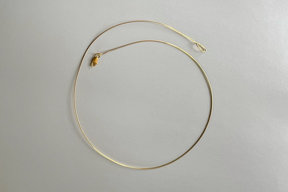 Image of gold plated silver rim for pendant
