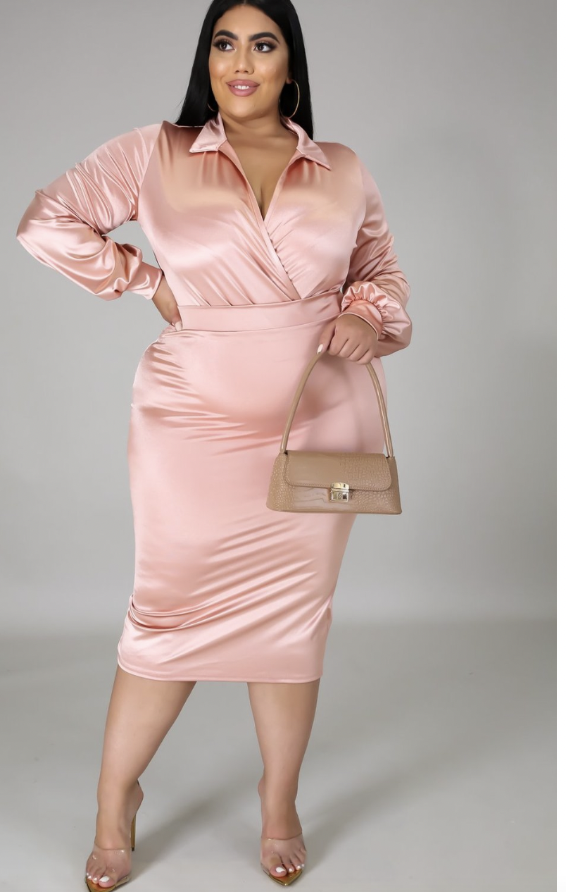 The Bottomless Champagne + Rose' Dress