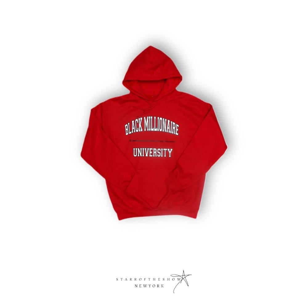 Image of Black Millionaire University Pullover Hoodie