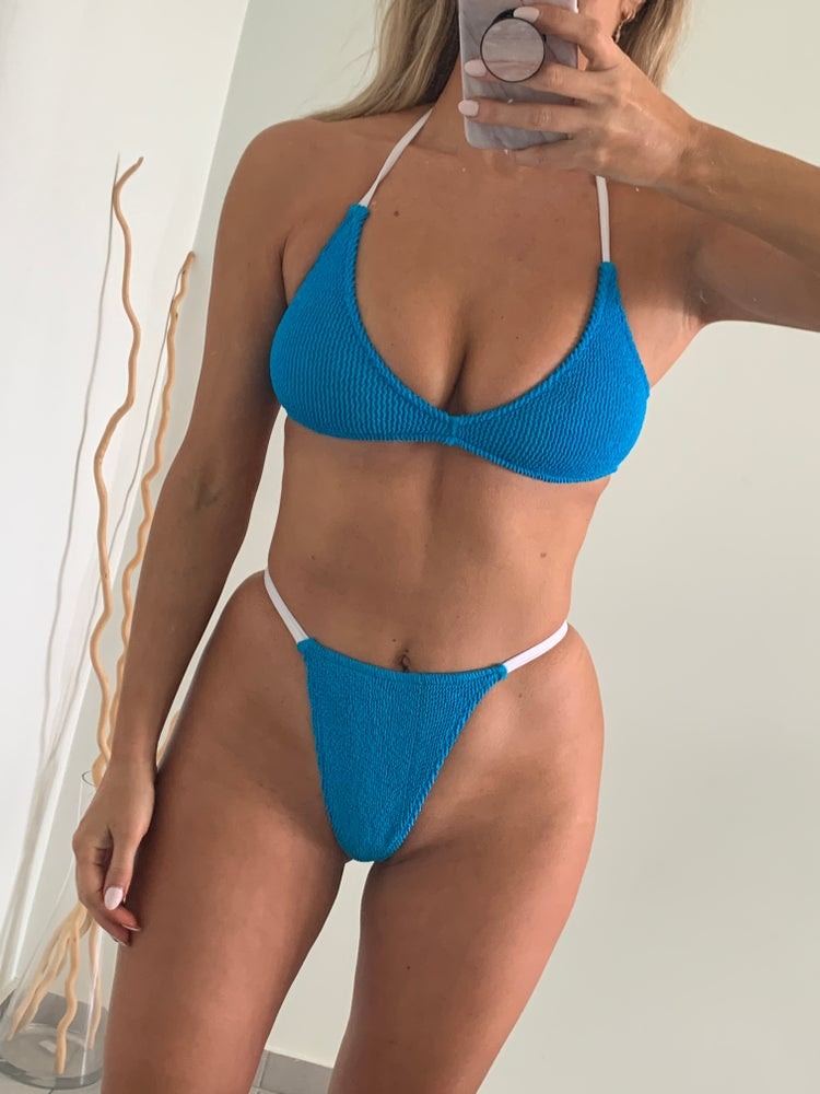 Image of Turquoise G-String Halter Bra Bikini OR Seperates